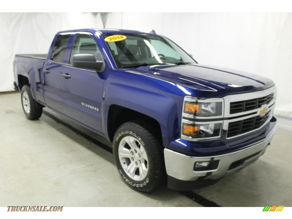 2014 chevrolet silverado 1500 lt double cab 4x4 in blue topaz metallic 336304 truck n 39 sale. Black Bedroom Furniture Sets. Home Design Ideas