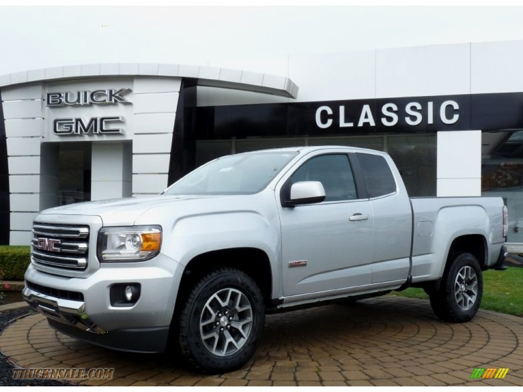 2016 gmc canyon sle extended cab 4x4 in quicksilver metallic 106717 truck n 39 sale. Black Bedroom Furniture Sets. Home Design Ideas