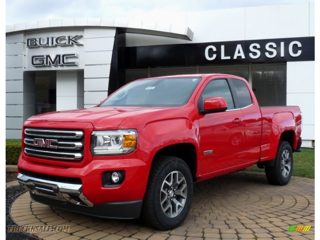 2016 gmc canyon sle extended cab 4x4 in cardinal red 107120 truck n 39 sale. Black Bedroom Furniture Sets. Home Design Ideas