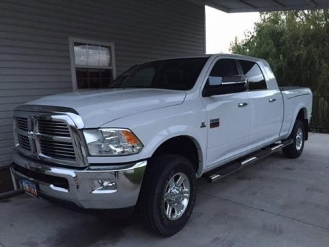 Bright White 2012 Dodge Ram 2500 HD Laramie Mega Cab 4x4