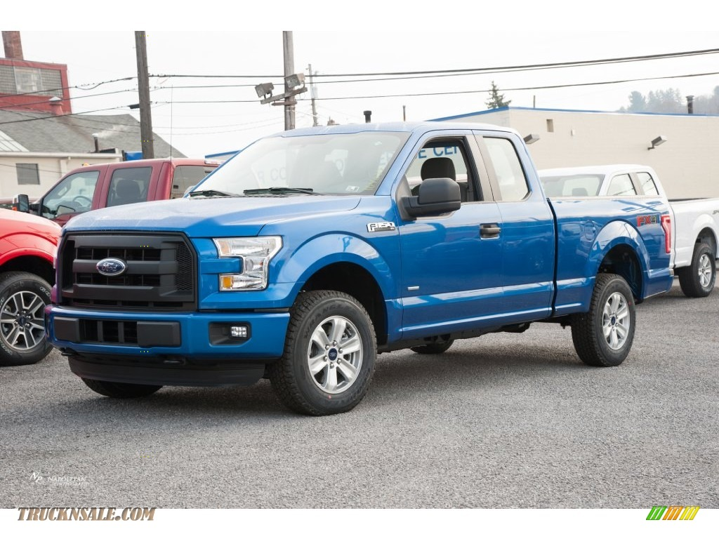 2016 ford f150 xl supercab 4x4 in blue flame a52361 truck n 39 sale. Black Bedroom Furniture Sets. Home Design Ideas