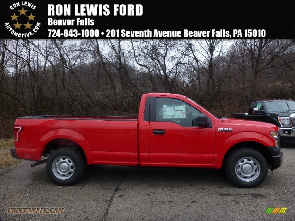 ford f xl regular cab in race red d truck n race red medium earth gray ford f150 xl regular cab