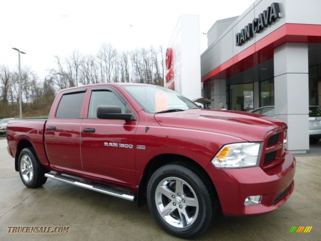 2012 dodge ram 1500 st crew cab 4x4 in deep cherry red crystal pearl 328893 truck n 39 sale. Black Bedroom Furniture Sets. Home Design Ideas