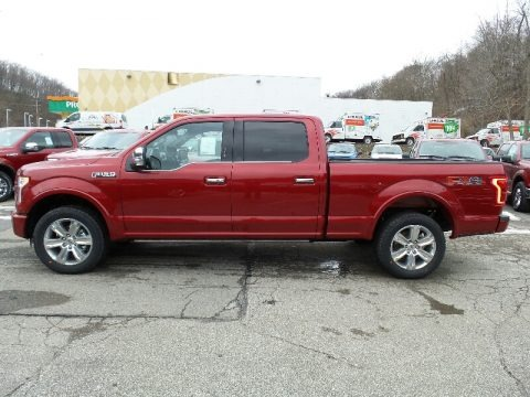 Ruby Red 2016 Ford F150 Platinum SuperCrew 4x4