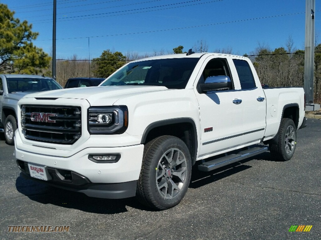 2016 gmc sierra 1500 slt double cab 4wd in summit white 218991 truck n 39 sale. Black Bedroom Furniture Sets. Home Design Ideas