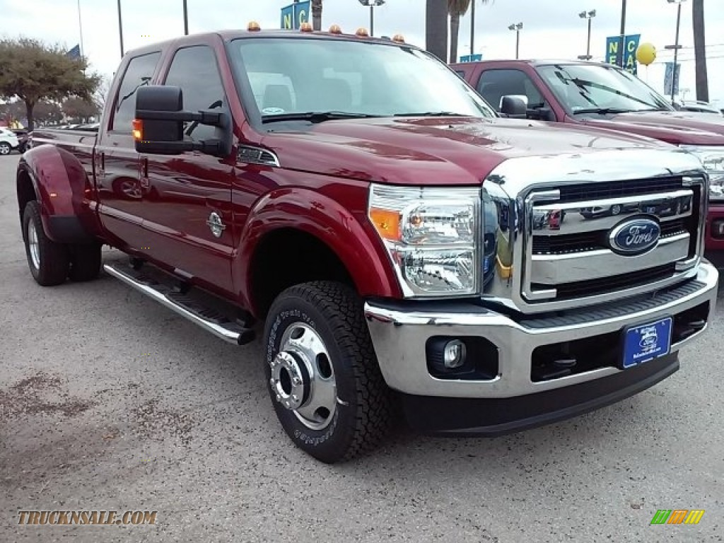 2016 ford f350 super duty lariat crew cab 4x4 drw in ruby red metallic b93270 truck n 39 sale. Black Bedroom Furniture Sets. Home Design Ideas