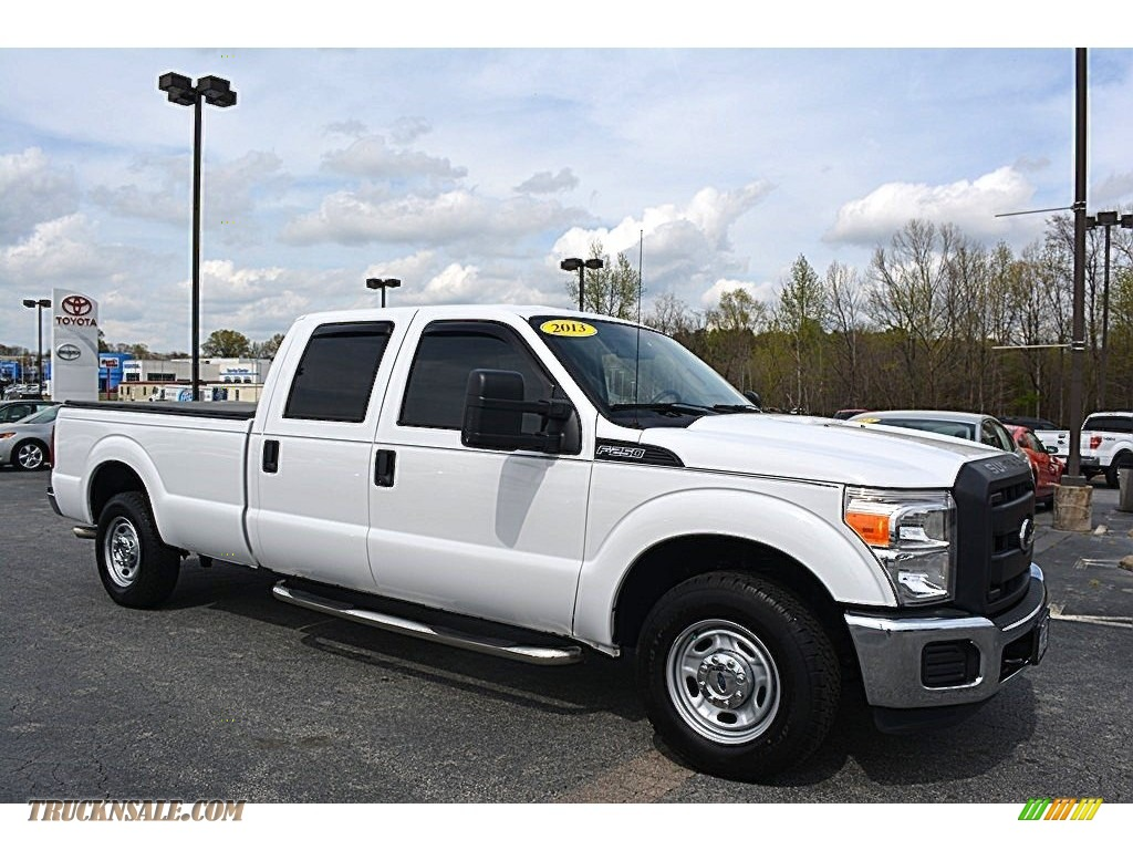 2013 ford f250 super duty xl crew cab in oxford white. Black Bedroom Furniture Sets. Home Design Ideas