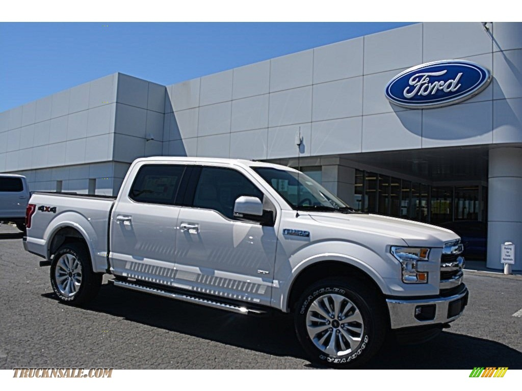 2016 ford f150 lariat supercrew 4x4 in white platinum b75029 truck n 39 sale. Black Bedroom Furniture Sets. Home Design Ideas