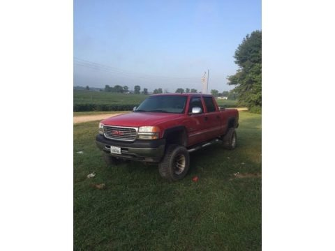 Fire Red 2002 GMC Sierra 2500HD SLT Crew Cab 4x4