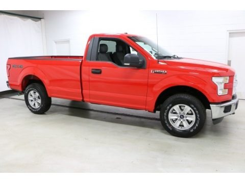 Race Red 2016 Ford F150 XL Regular Cab 4x4