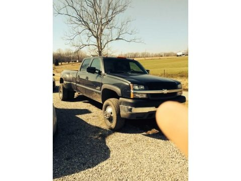 Dark Gray Metallic 2003 Chevrolet Silverado 3500 LS Crew Cab 4x4 Dually