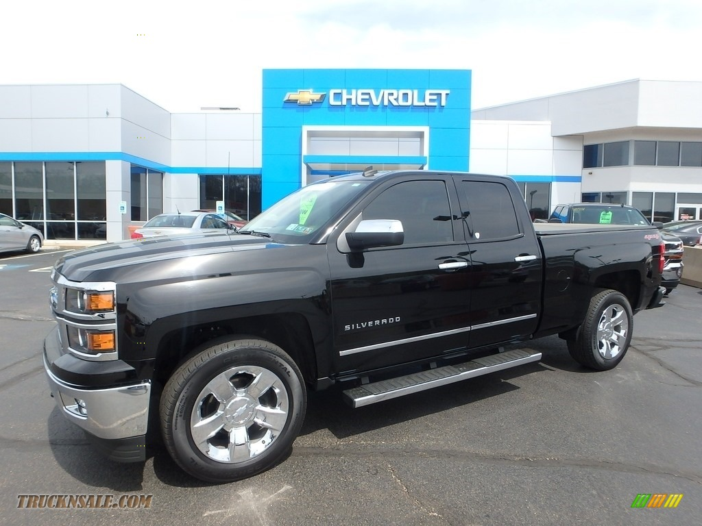 2014 chevrolet silverado 1500 ltz double cab 4x4 in black 315331 truck n 39 sale. Black Bedroom Furniture Sets. Home Design Ideas