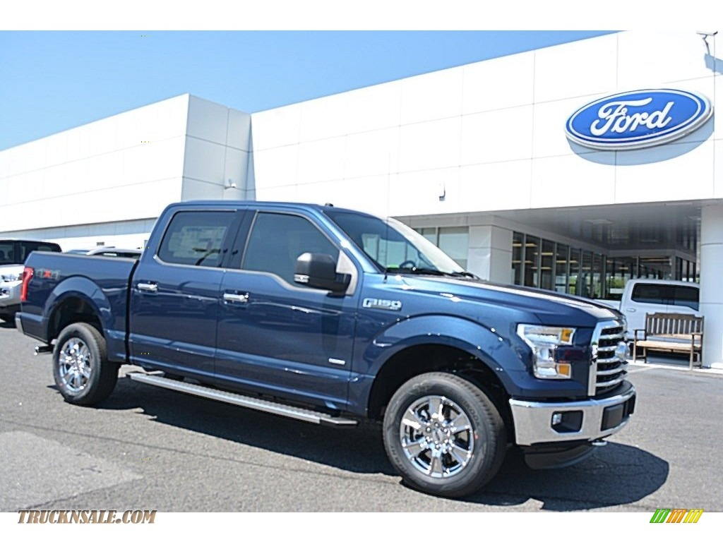 2016 Ford F150 Xlt Supercrew 4x4 In Blue Jeans B92784