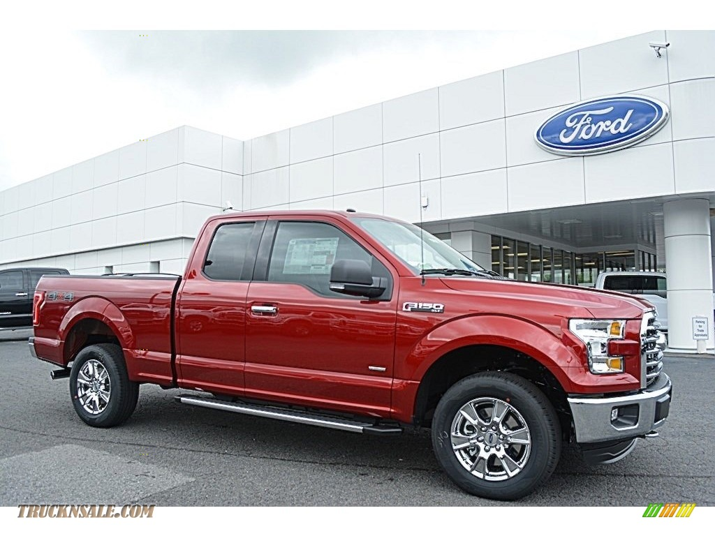 2016 ford f150 xlt supercab 4x4 in ruby red c05095 truck n 39 sale. Black Bedroom Furniture Sets. Home Design Ideas
