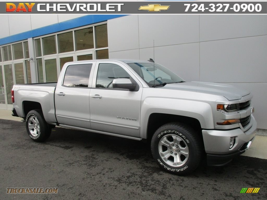2016 chevrolet silverado 1500 lt crew cab 4x4 in silver ice metallic 306883 truck n 39 sale. Black Bedroom Furniture Sets. Home Design Ideas