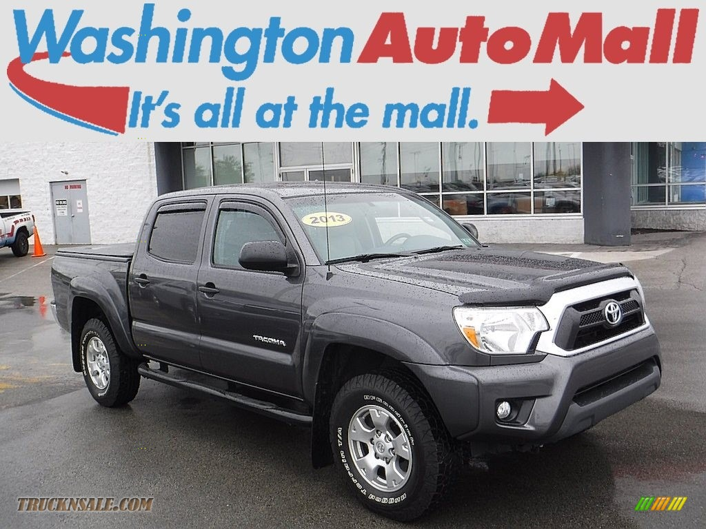 2013 toyota tacoma v6 sr5 double cab 4x4 in magnetic gray metallic 067926 truck n 39 sale. Black Bedroom Furniture Sets. Home Design Ideas