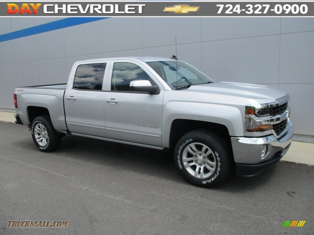 2016 chevrolet silverado 1500 lt crew cab 4x4 in silver ice metallic 314115 truck n 39 sale. Black Bedroom Furniture Sets. Home Design Ideas