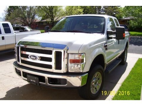 Oxford White 2008 Ford F250 Super Duty XLT SuperCab 4x4