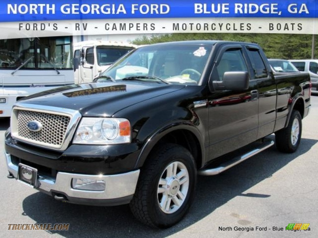 2004 ford f150 lariat supercab 4x4 in black b56512. Black Bedroom Furniture Sets. Home Design Ideas