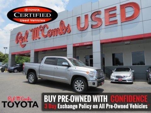 Silver Sky Metallic 2016 Toyota Tundra Limited CrewMax