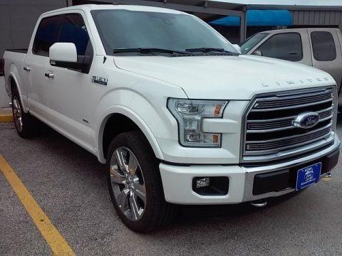 White Platinum 2016 Ford F150 Limited SuperCrew 4x4