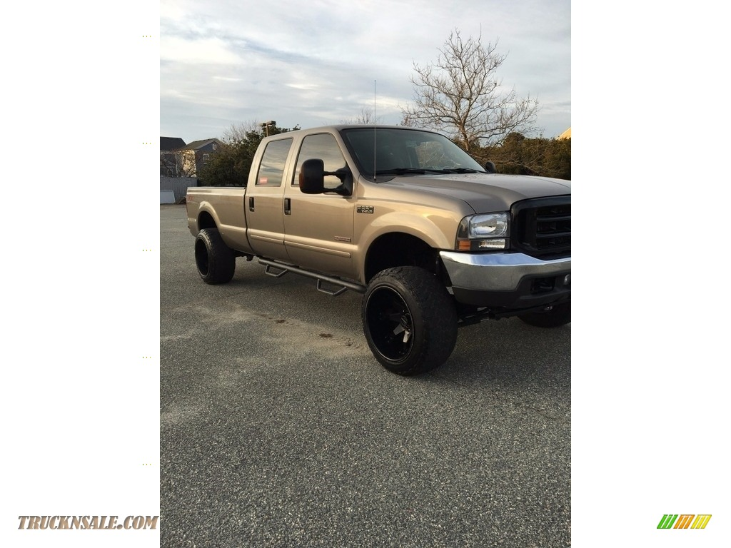 2004 ford f350 super duty xlt crew cab 4x4 in arizona beige metallic for sale b16546 truck n. Black Bedroom Furniture Sets. Home Design Ideas