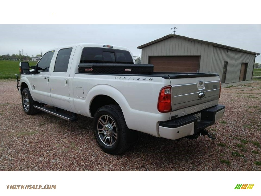 2013 ford f250 super duty platinum crew cab 4x4 in oxford white for sale photo 4 b18733. Black Bedroom Furniture Sets. Home Design Ideas