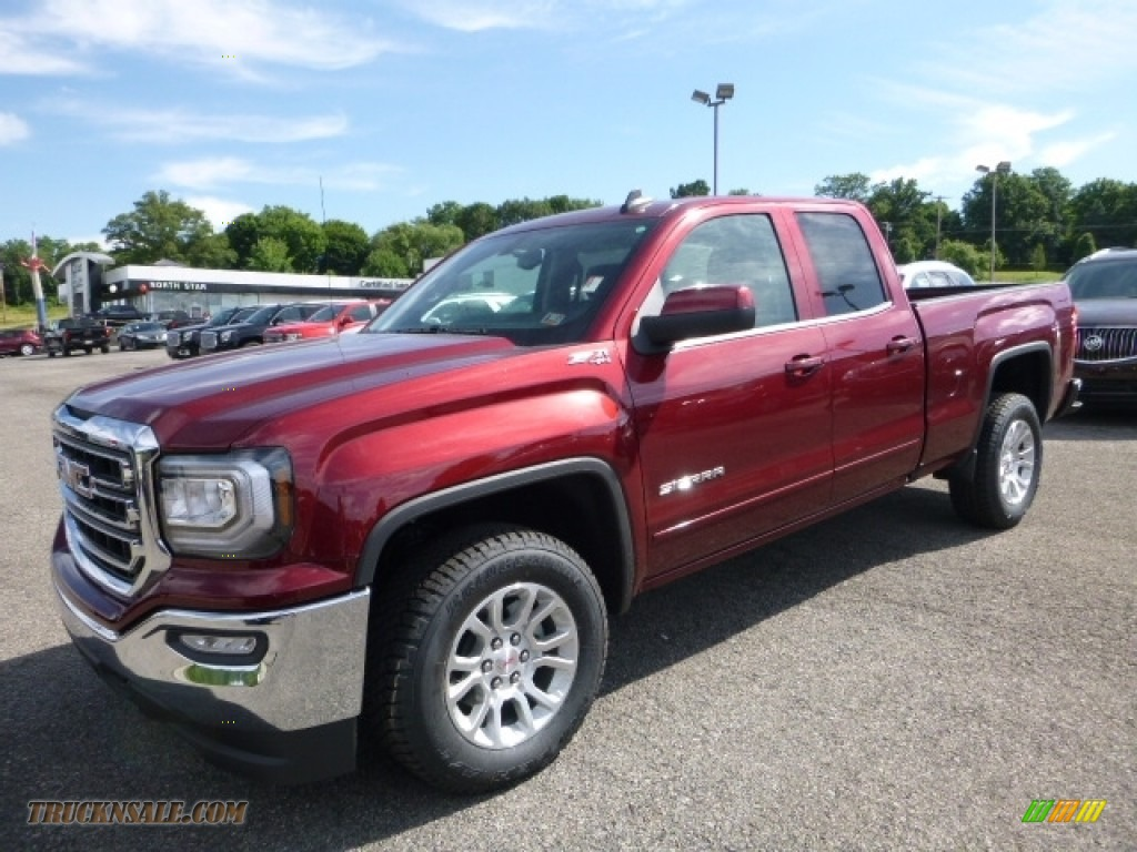 2016 Sierra 1500 SLE Double Cab 4WD - Crimson Red Tintcoat / Jet Black photo #1