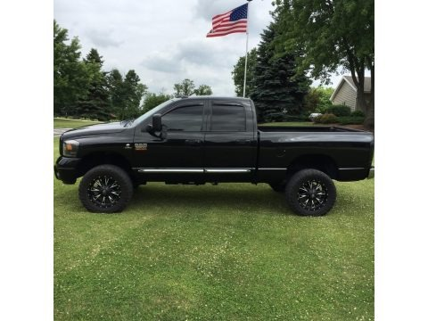 Brilliant Black Crystal Pearl 2008 Dodge Ram 2500 Laramie Quad Cab 4x4