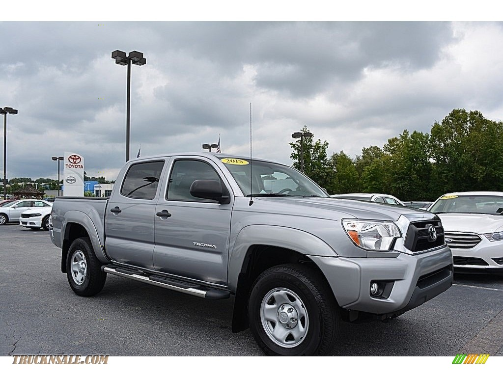2015 toyota tacoma v6 prerunner double cab in silver sky metallic 175381 truck n 39 sale. Black Bedroom Furniture Sets. Home Design Ideas