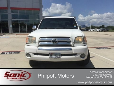 Natural White 2004 Toyota Tundra SR5 Double Cab
