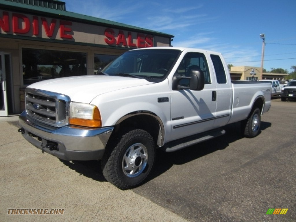2000 Ford F250 Super Duty Xlt Extended Cab 4x4 In Oxford White Medium Graphite