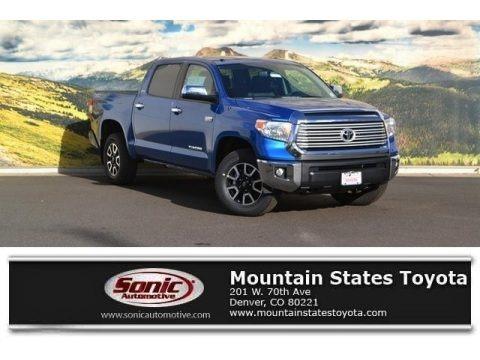 Blazing Blue Pearl 2017 Toyota Tundra Limited CrewMax 4x4