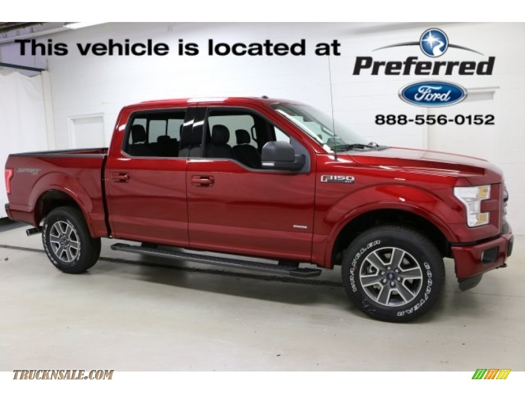 2016 F150 XLT SuperCrew 4x4 - Ruby Red / Black photo #1