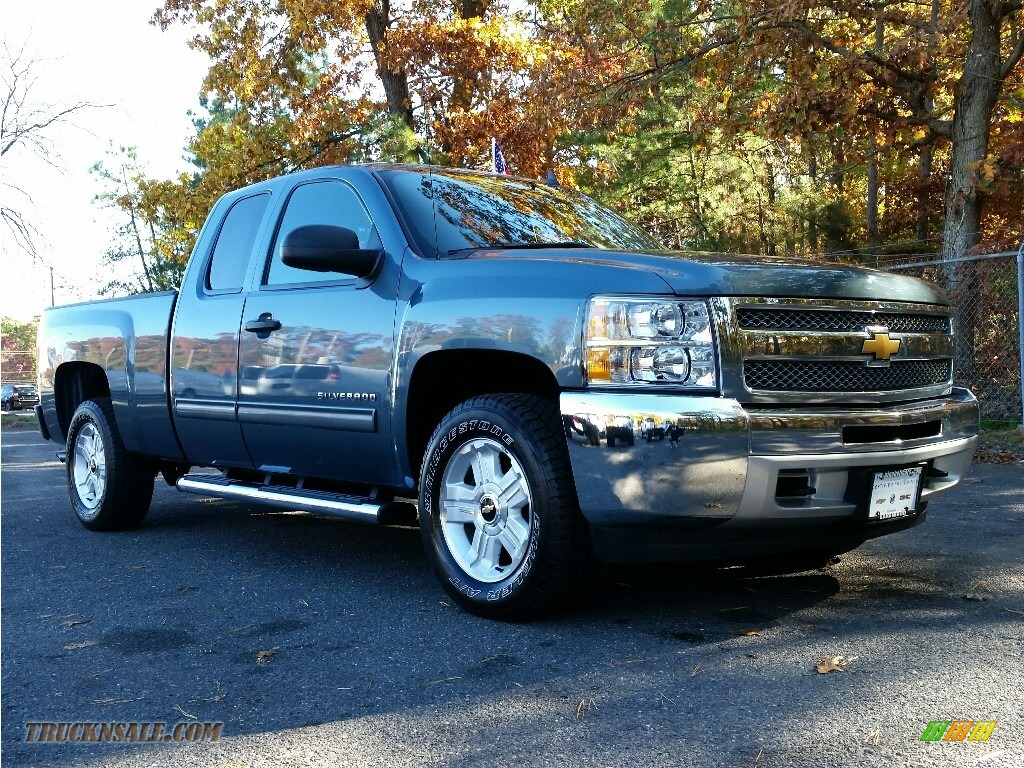 2013 chevrolet silverado 1500 lt extended cab 4x4 in blue granite metallic 273321 truck n 39 sale. Black Bedroom Furniture Sets. Home Design Ideas
