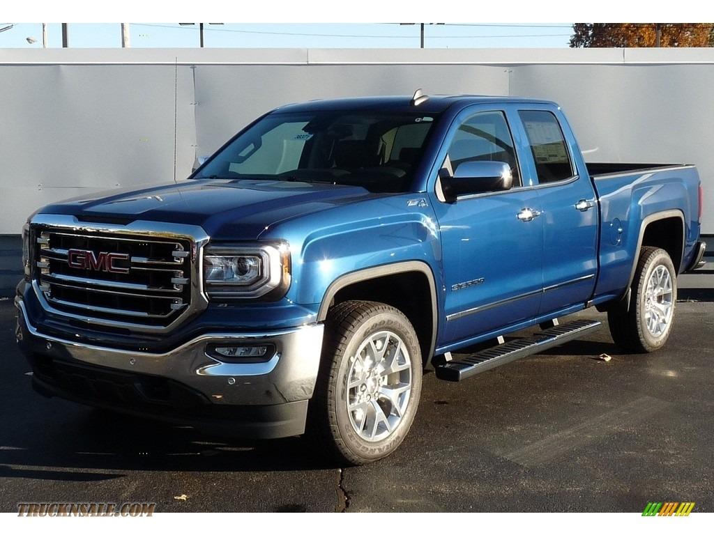 2017 Gmc Sierra 1500 Slt Double Cab 4wd In Stone Blue