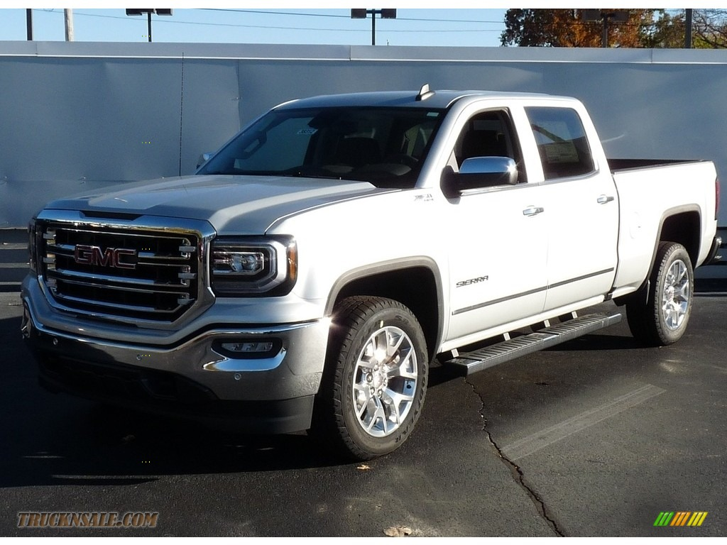 2017 gmc sierra 1500 slt crew cab 4wd in quicksilver metallic 165210 truck n 39 sale. Black Bedroom Furniture Sets. Home Design Ideas