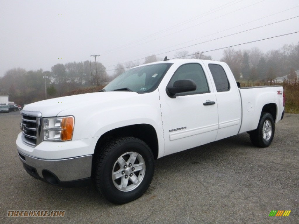 2012 gmc sierra 1500 sle extended cab 4x4 in summit white 206565 truck n 39 sale. Black Bedroom Furniture Sets. Home Design Ideas