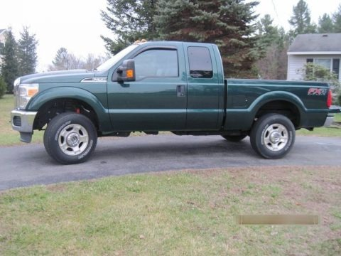 Forest Green Metallic 2012 Ford F250 Super Duty XLT SuperCab 4x4