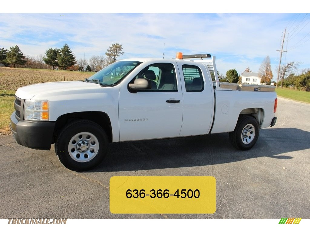 2012 chevrolet silverado 1500 work truck extended cab 4x4 in summit white photo 2 314231. Black Bedroom Furniture Sets. Home Design Ideas