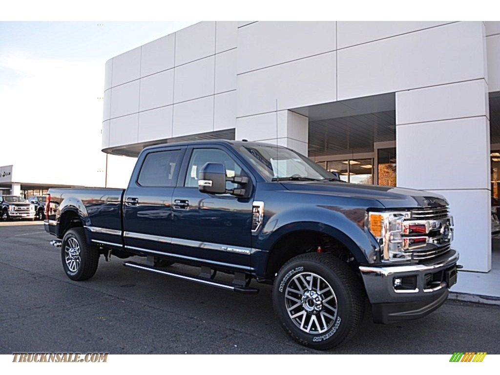 2017 ford f350 super duty lariat crew cab 4x4 in blue jeans b82848 truck n 39 sale. Black Bedroom Furniture Sets. Home Design Ideas