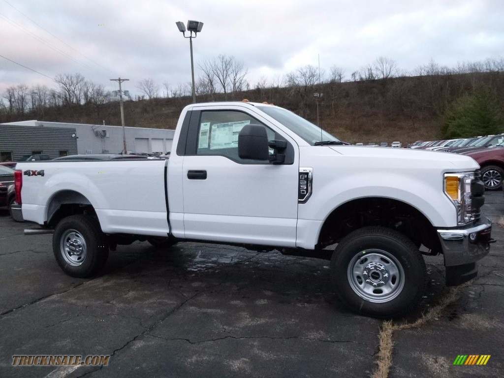 2017 f250 super duty xl regular cab 4x4 oxford white medium earth gray photo
