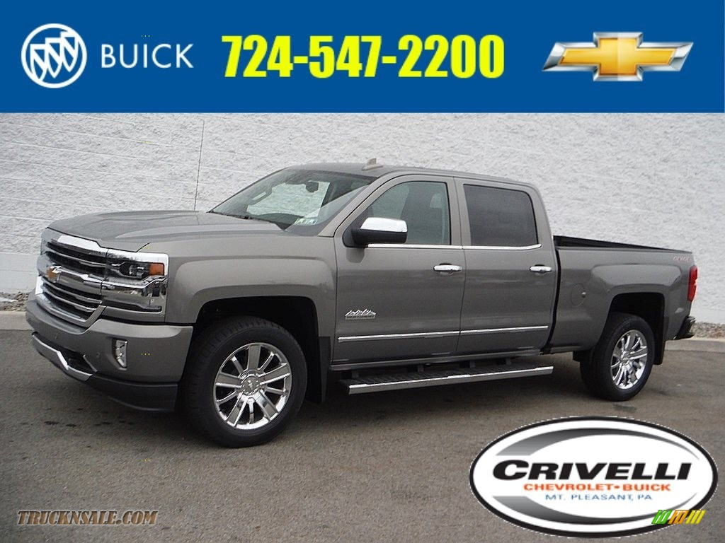 2017 chevrolet silverado 1500 high country crew cab 4x4 in pepperdust metallic 265268 truck. Black Bedroom Furniture Sets. Home Design Ideas