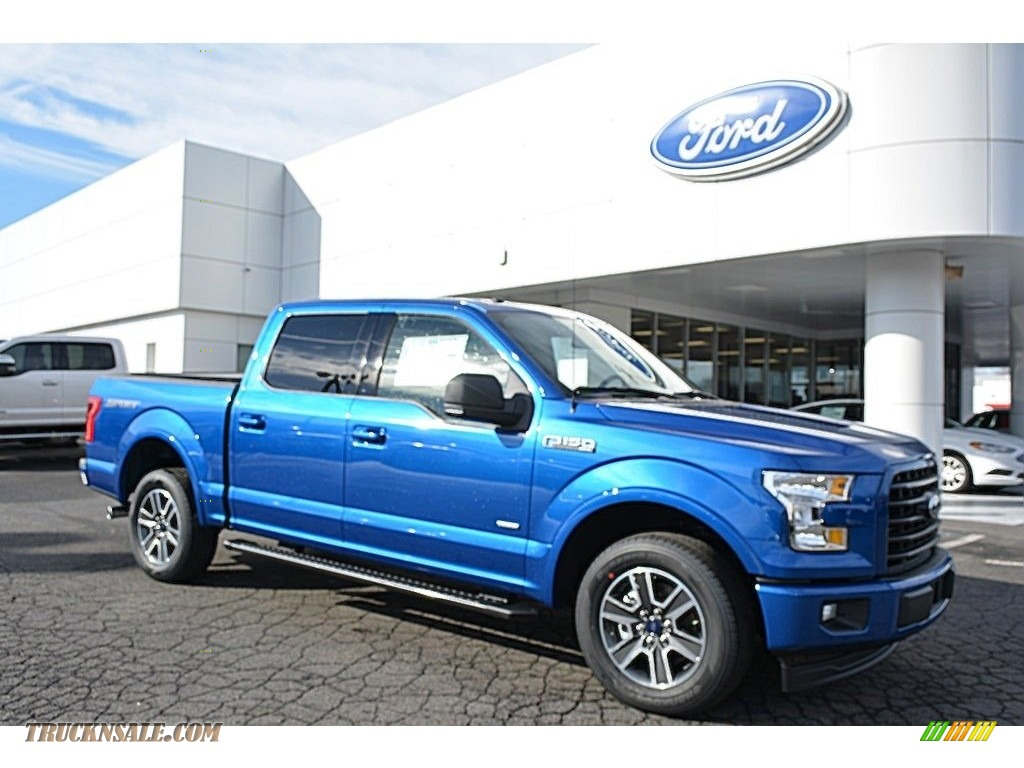 2017 F150 Xlt Supercrew Lightning Blue Black Photo 1