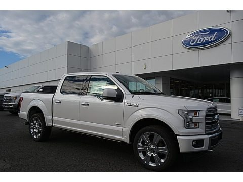 White Platinum 2017 Ford F150 Limited SuperCrew 4x4