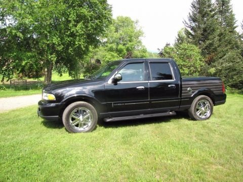 Black Clearcoat 2002 Lincoln Blackwood Crew Cab