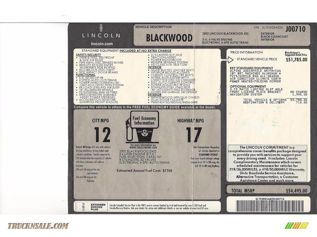 2002 Blackwood Crew Cab - Black Clearcoat / Midnight Black photo #9