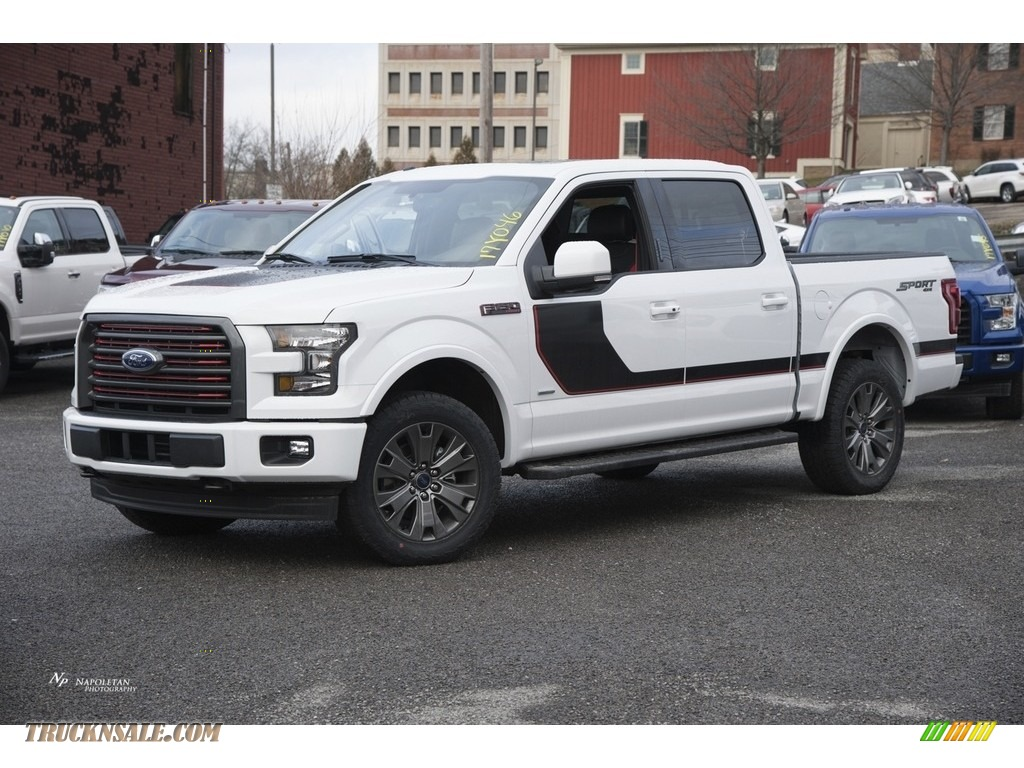 2017 ford f150 lariat supercrew 4x4 in oxford white b07904 truck n 39 sale. Black Bedroom Furniture Sets. Home Design Ideas
