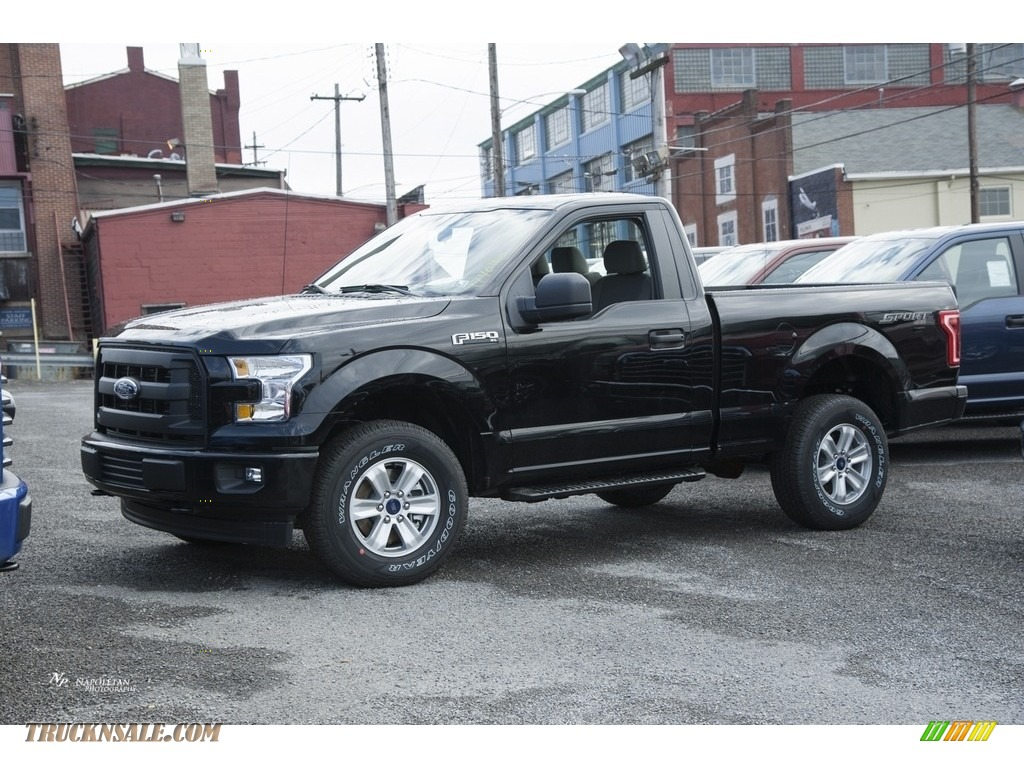 2017 ford f150 xl regular cab 4x4 in shadow black c59098 truck n 39 sale. Black Bedroom Furniture Sets. Home Design Ideas