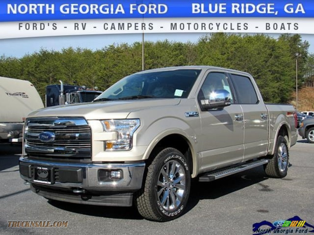 2017 ford f150 lariat supercrew 4x4 in white gold a80990 truck n 39 sale. Black Bedroom Furniture Sets. Home Design Ideas